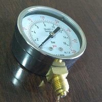 Pressure Gauge 10 Bar / 145 PSI, Chrome Body Dial Size 2.5 Inch, Reliable Quality In Stock